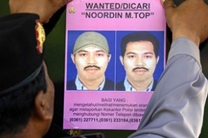 Police were trying to identify the body suspected to be Noordin on Saturday morning (AFP)