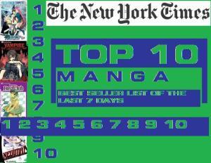 New York Times' TOP 10 Manga Best Seller List of the Week