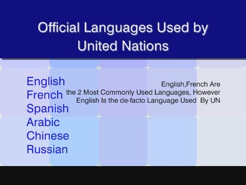 the official language of the united Languages of the un: a history the united nations was officially established on october 24, 1945 fifty-one nations were represented, and the official languages of.