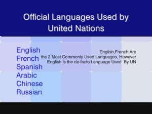 Official Languages Used By The United Nations