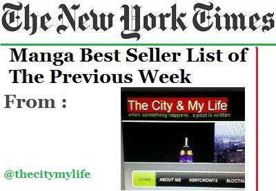The New York Times' Top 10 Manga Best Seller List
